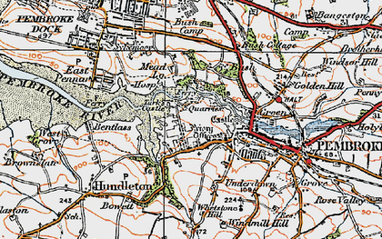 Old map of Monkton in 1922