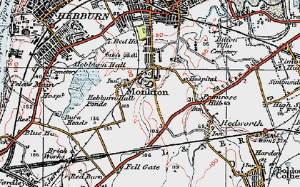 Old map of Monkton in 1925