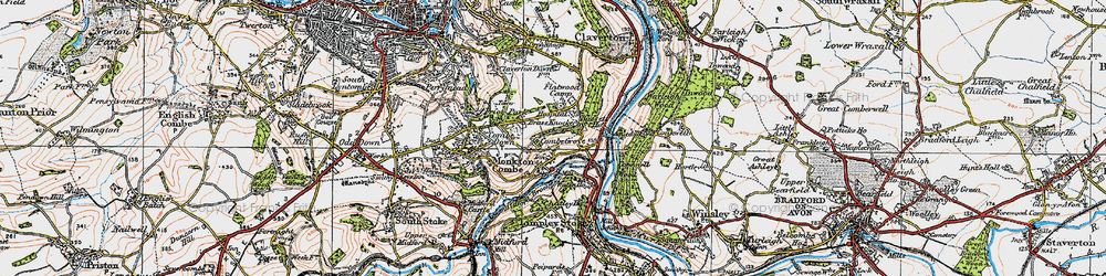 Old map of Monkton Combe in 1919