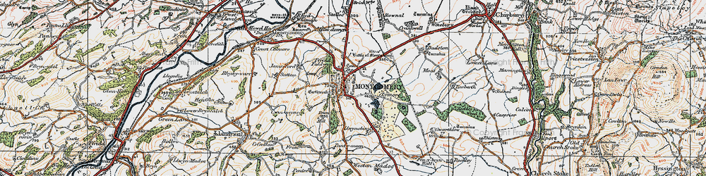 Old map of Montgomery in 1921