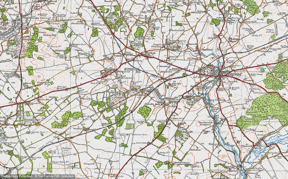 Old Map of Monxton, 1919 in 1919
