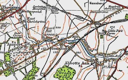 Old map of Monxton in 1919