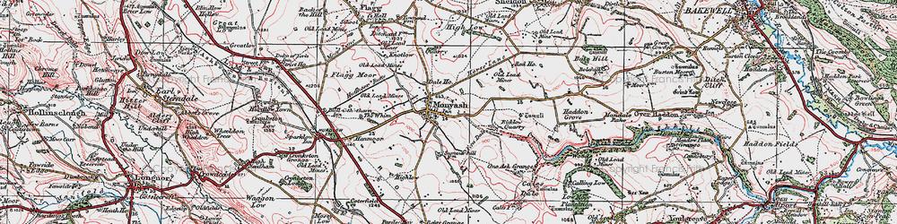Old map of Monyash in 1923