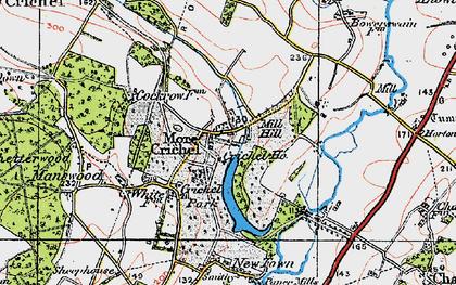 Old map of Crichel Ho in 1919