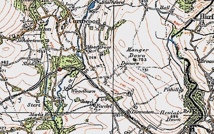 Old map of Whingreen in 1919