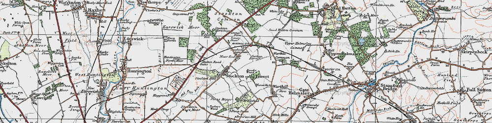 Old map of World's End in 1924