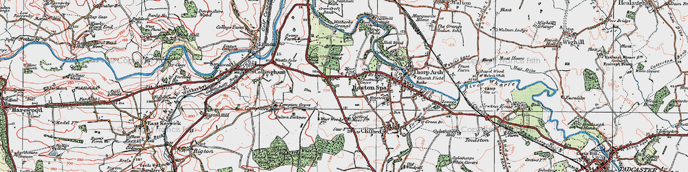 Old map of Wetherby Grange in 1925