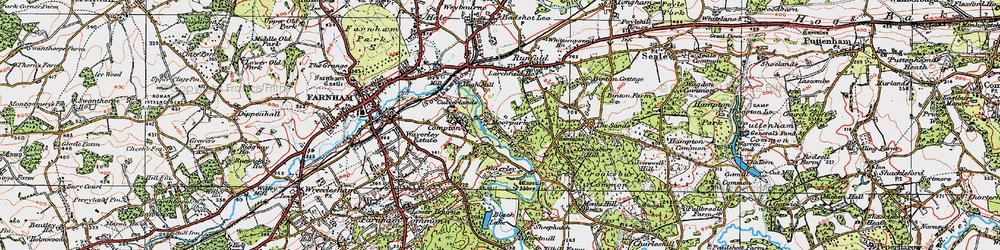 Old map of Waverley Abbey in 1919