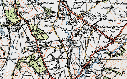 Old map of Westlakes Science Park in 1925