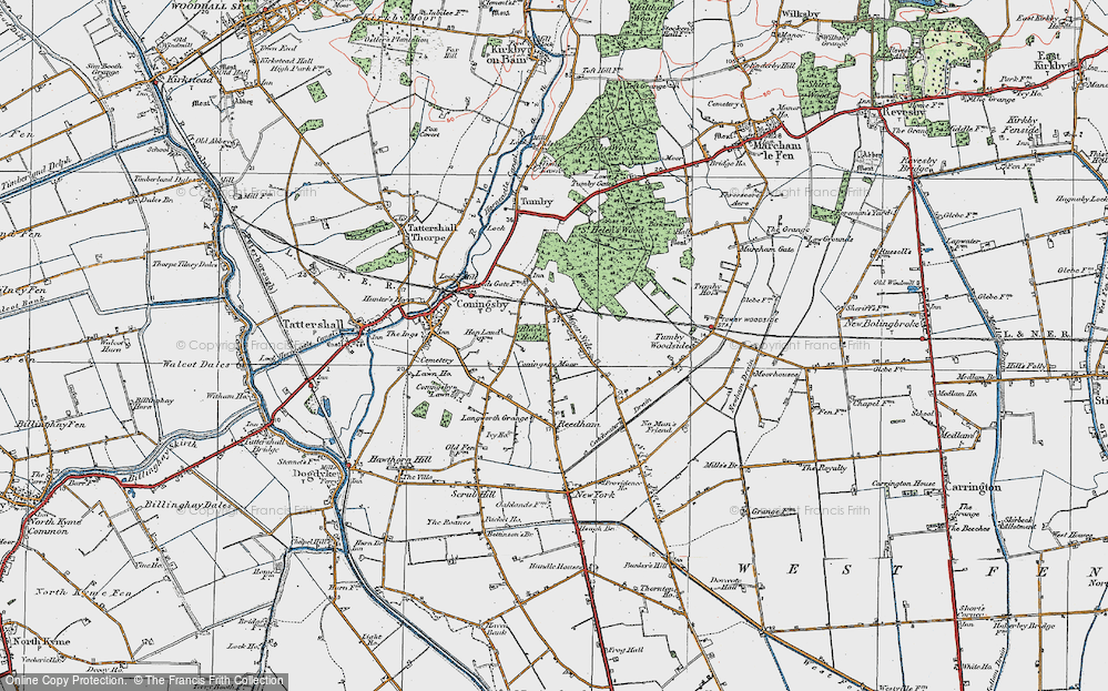 Old Map of Moor Side, 1923 in 1923
