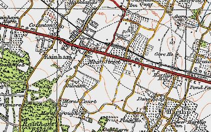 Old map of Moor Street in 1921