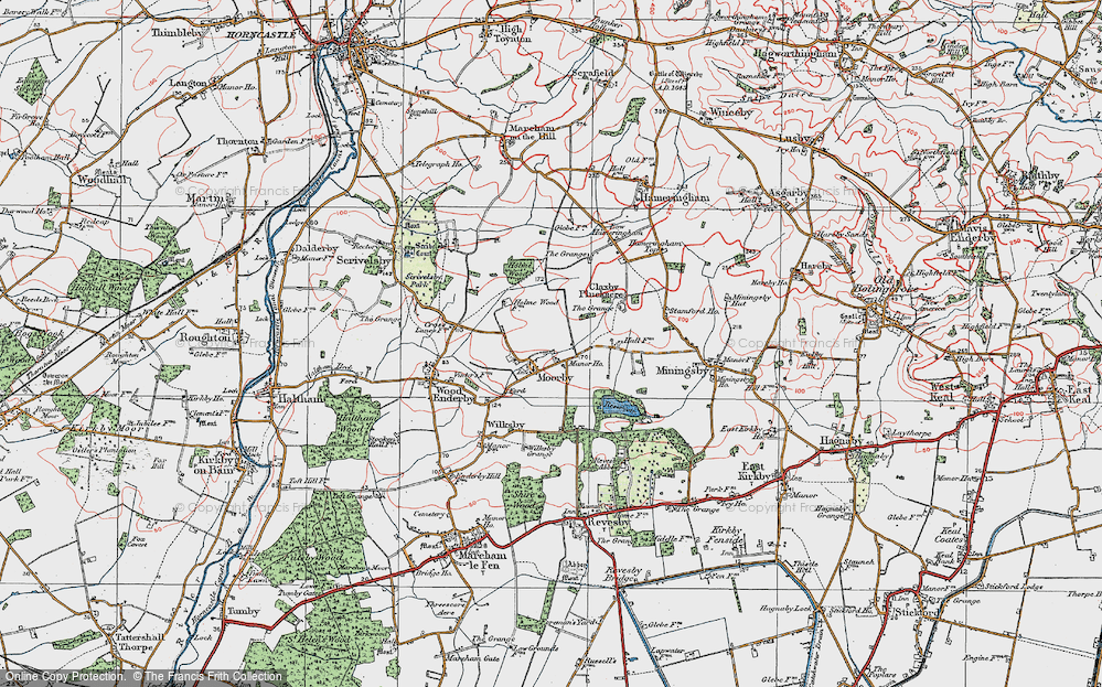 Old Map of Moorby, 1923 in 1923