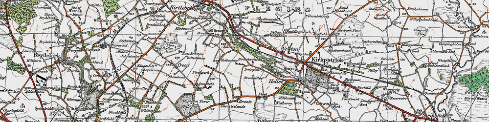 Old map of Westlands in 1925