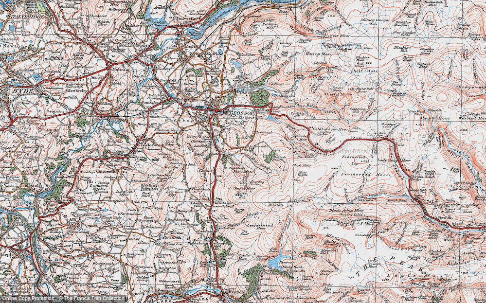 Old Map of Historic Map covering Wood's Cabin in 1923