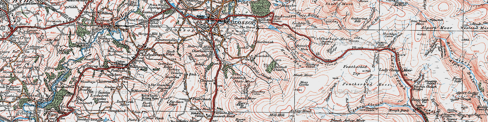 Old map of Whitethorn Clough in 1923