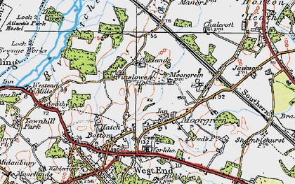 Old map of Winslowe Ho in 1919