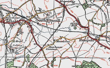 Old map of Moorhouse in 1924