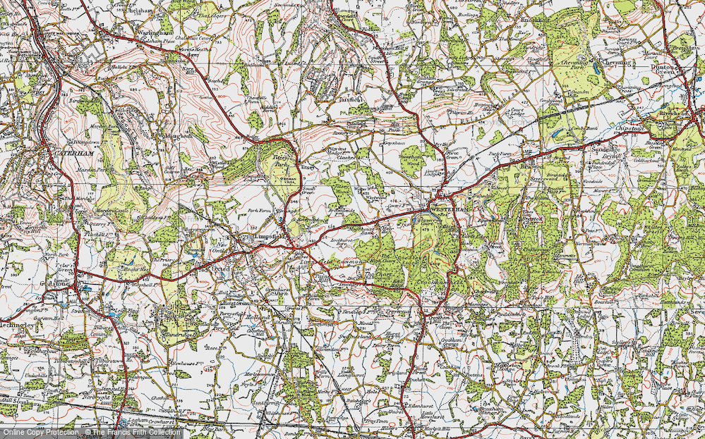 Old Map of Historic Map covering Titsey Wood in 1920