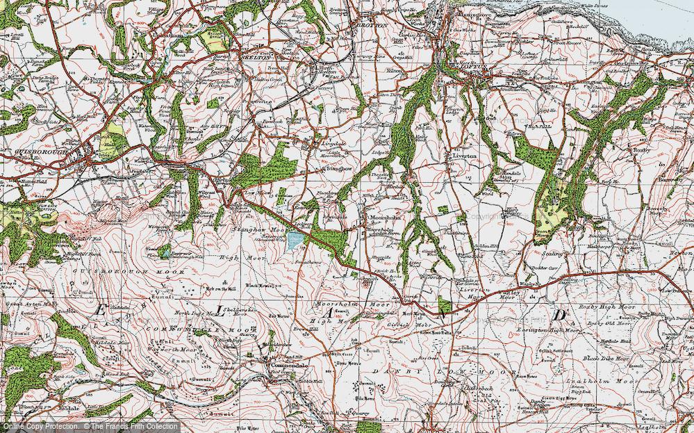 Old Map of Moorsholm, 1925 in 1925