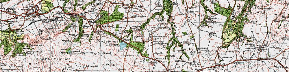 Old map of Moorsholm in 1925