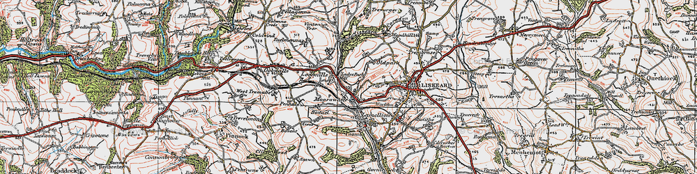 Old map of Moorswater in 1919