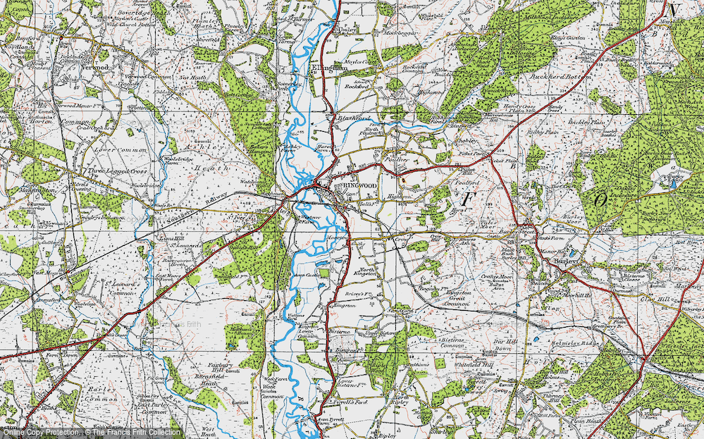 Old Map of Historic Map covering Avon Valley Path in 1919