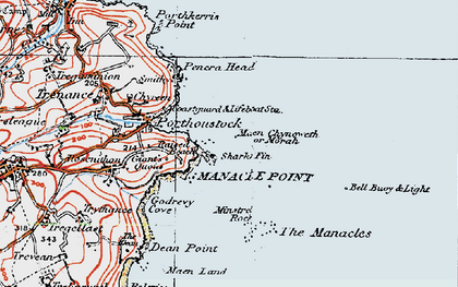 Old map of Morah in 1919