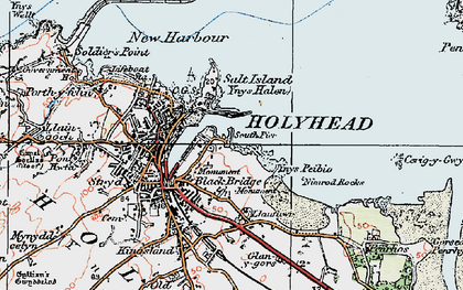 Old map of Ynys Peibio in 1922