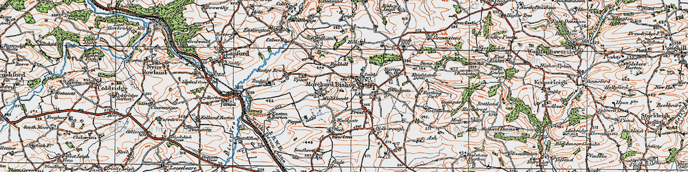 Old map of Langland in 1919
