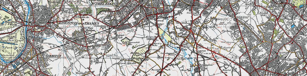 Old map of Morden in 1920