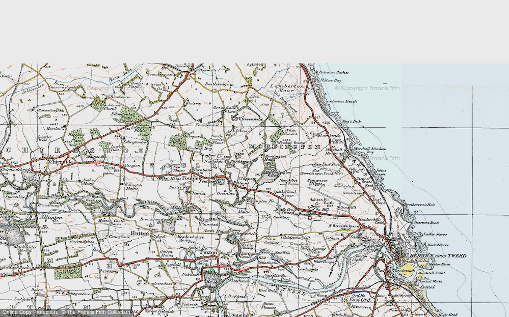 Old Map of Historic Map covering Woodhills in 1926