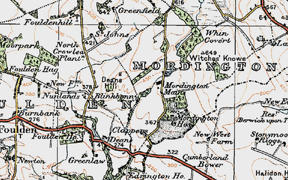 Old map of Woodhills in 1926