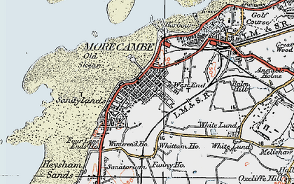 Old map of Morecambe in 1924