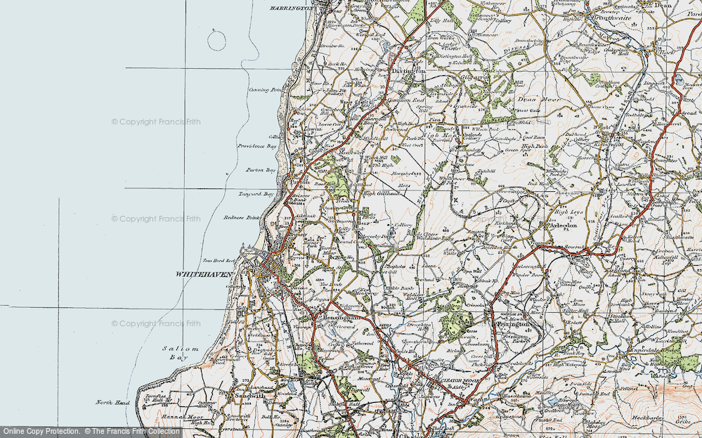 Old Map of Historic Map covering Abbey Flatts in 1925