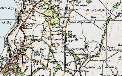 Old map of Abbey Flatts in 1925