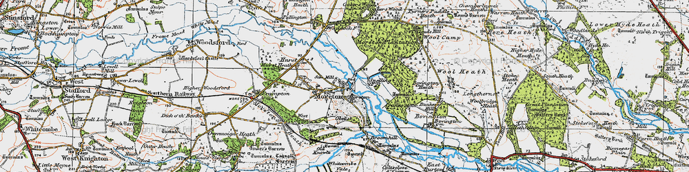 Old map of Moreton in 1919