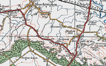 Old map of Banktop Wood in 1921