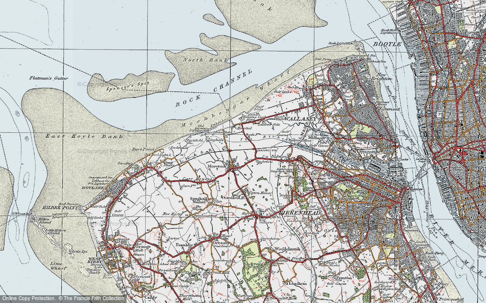 Old Map of Moreton, 1923 in 1923