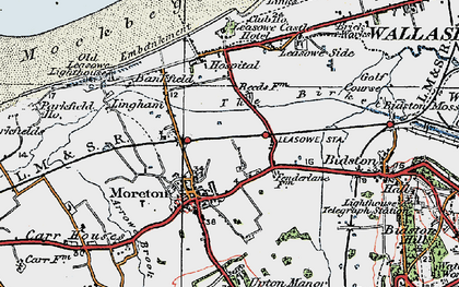 Old map of Moreton in 1923