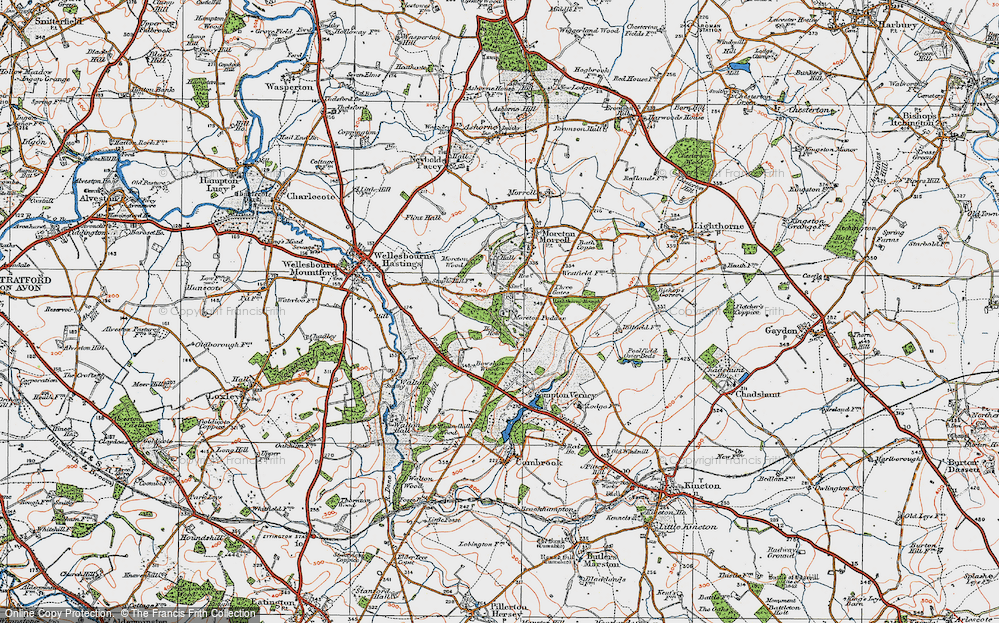 Old Map of Moreton Paddox, 1919 in 1919