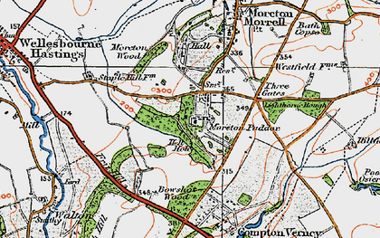 Old map of Moreton Paddox in 1919