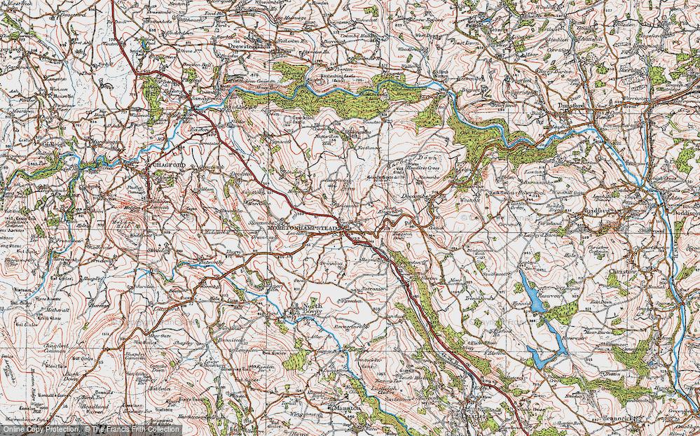 Old Map of Moretonhampstead, 1919 in 1919