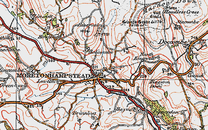 Old map of Willingstone in 1919