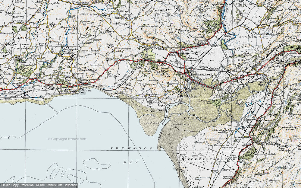 Old Map of Morfa Bychan, 1922 in 1922