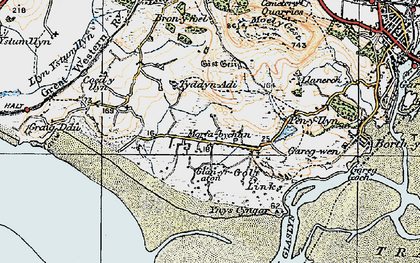Old map of Morfa Bychan in 1922