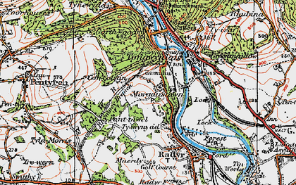 Old map of Morganstown in 1919