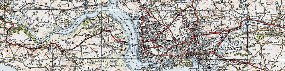 Old map of Morice Town in 1919