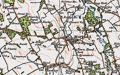 Old map of Akeygate in 1925