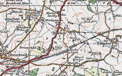 Old map of Morley in 1921