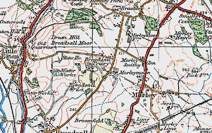 Old map of Morleymoor in 1921